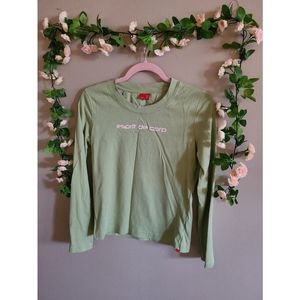 Vintage Green and Baby Pink Esprit Long Sleeve